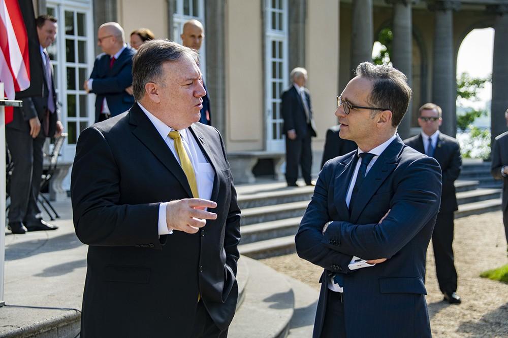 Майк Помпео и министр иностранных дел Германии Хайко Маас