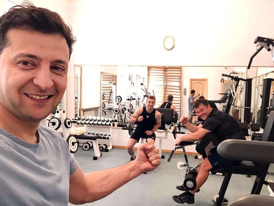 Владимир Зеленский в спортзале