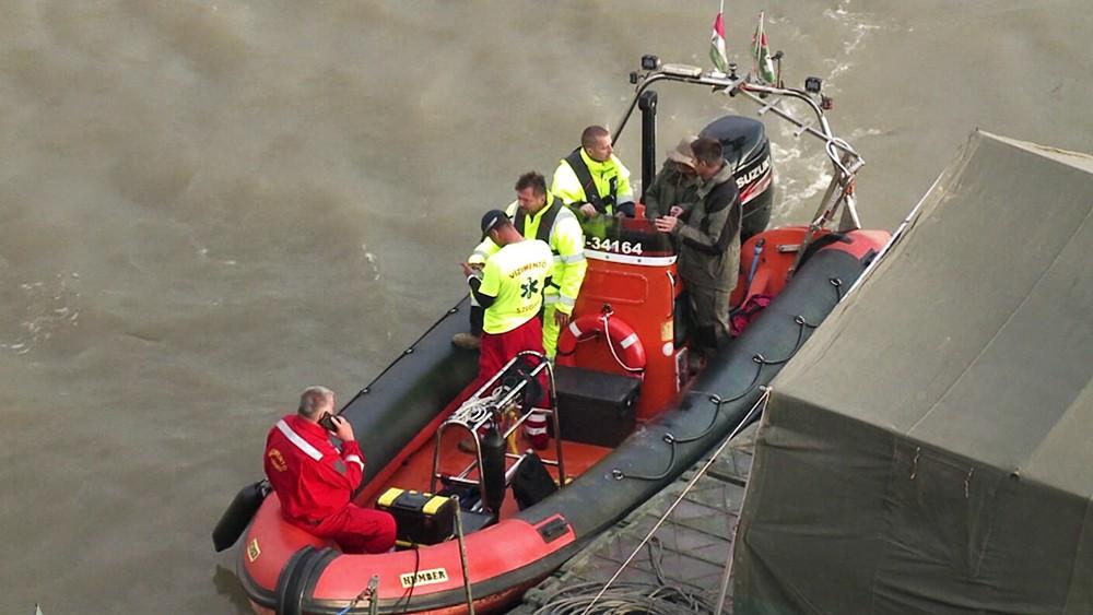 Венгерские спасатели на Дунае
