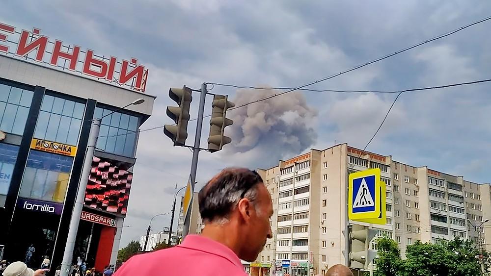 """Взрыв на заводе НИИ """"Кристал"""" в Дзержинске"""