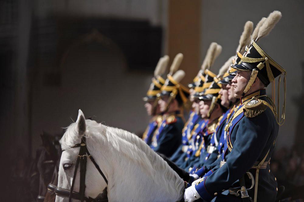 Развод пеших и конных караулов Президентского полка