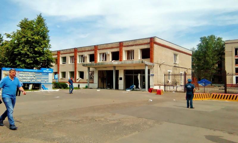 """Проходная завода """"Кристалл"""" в Дзержинске, на территории которого прогремели несколько взрывов"""