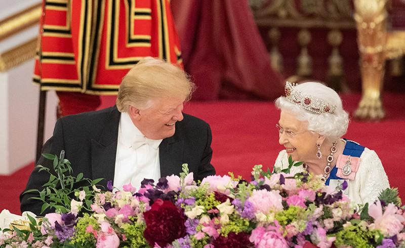 Дональд Трамп и королева Елизавета II