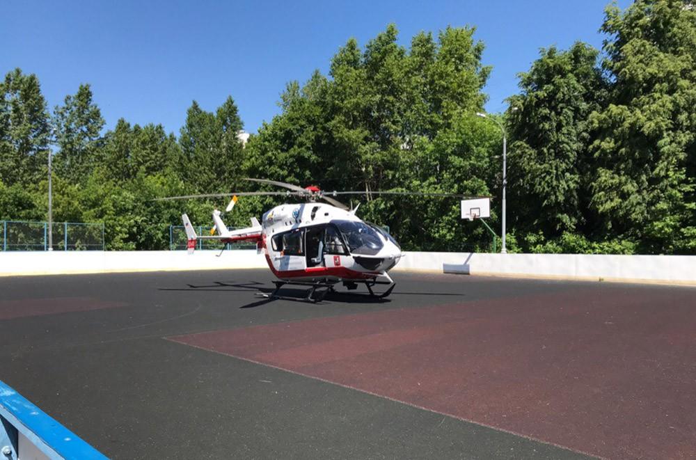 Вертолет на месте ЧП
