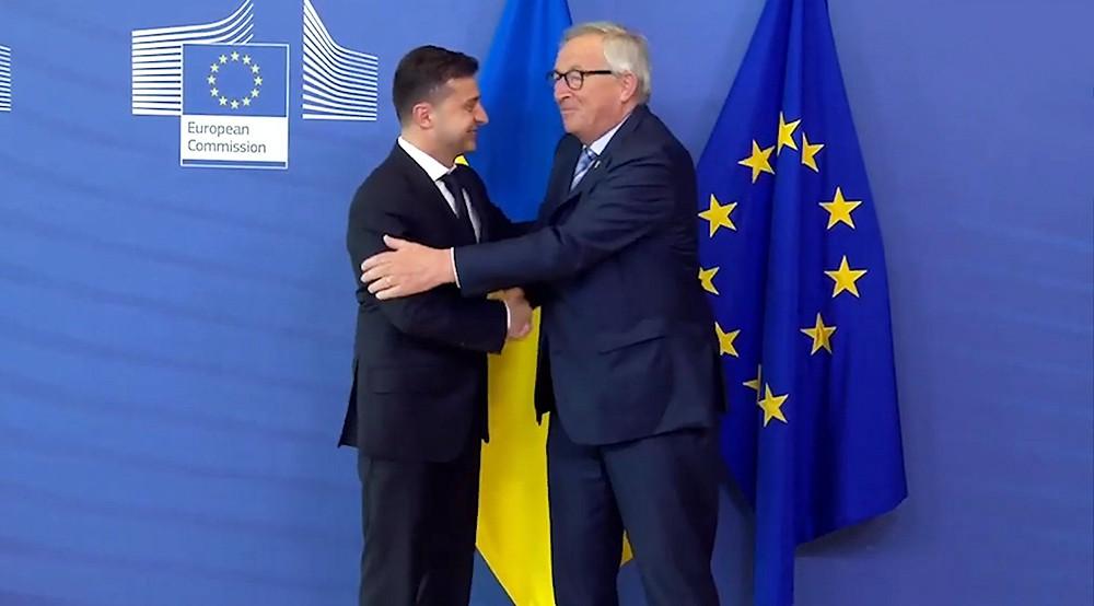 Владимир Зеленский и президент Европейской комиссии Жан-Клод Юнкер