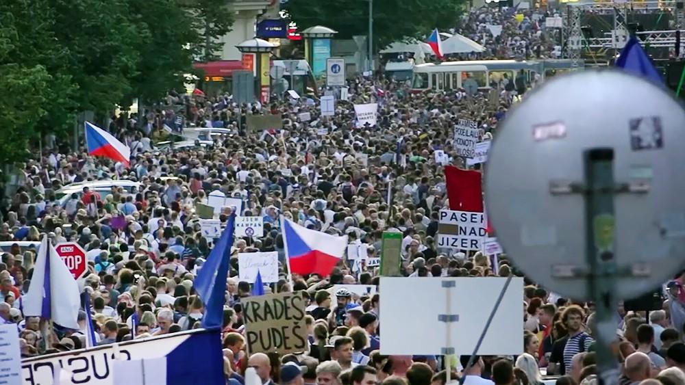 Митинг в Чехии