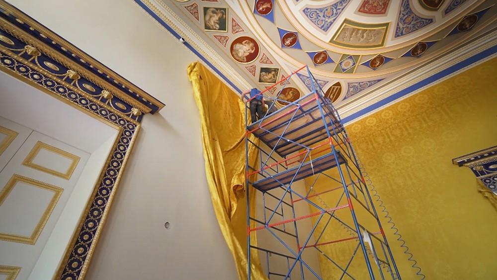 Подготовка к открытию Лионского зала Екатерининского дворца в Царском селе