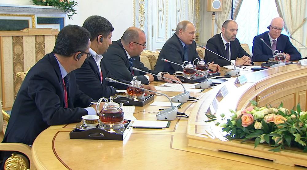 Встреча с руководителями ведущих мировых информационных агентств