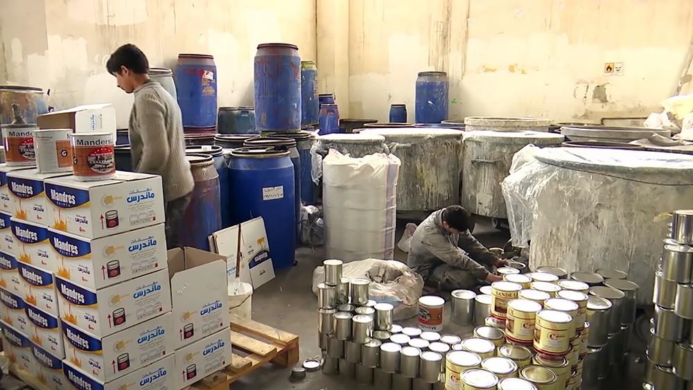 Производственный цех в Сирии