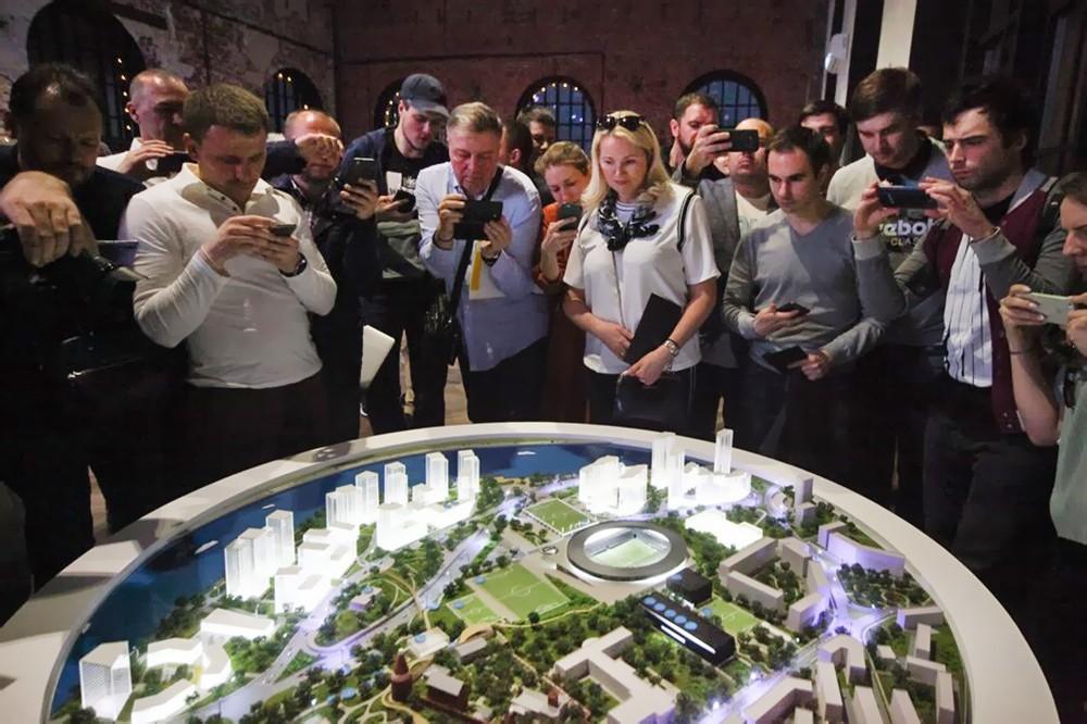 Мает нового микрорайона в Москве