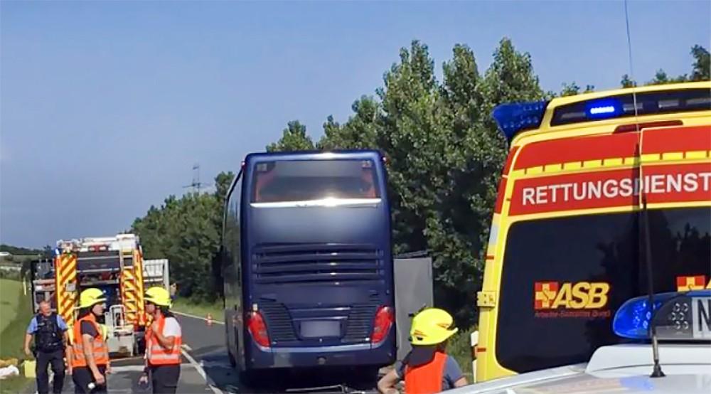 ДТП с участием автобуса в Германии