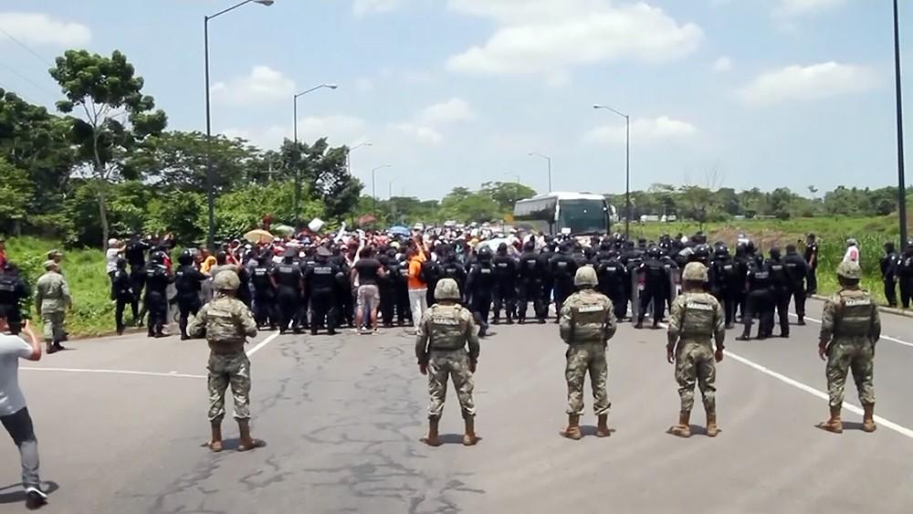Полиция на границе США и Мексики