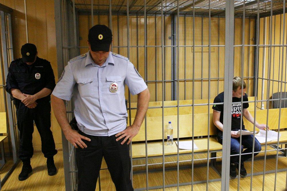 """Обвиняемый в покушении на сбыт наркотиков журналист """"Медузы"""" Иван Голунов"""