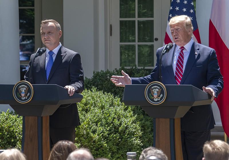 Дональд Трамп и Анджей Дуда