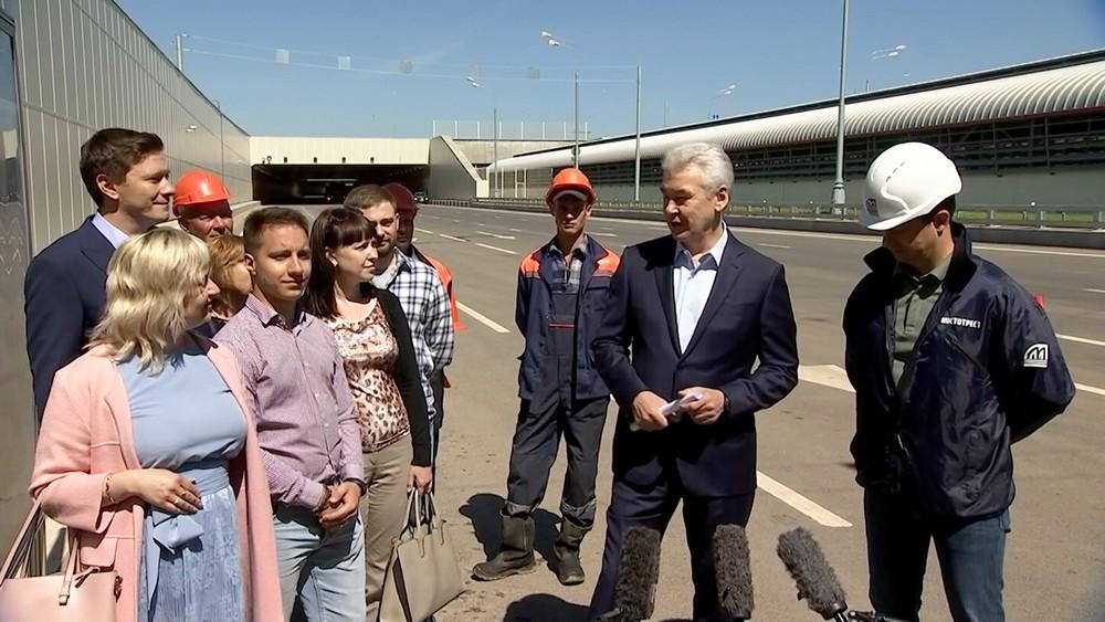 Сергей Собянин на открытии магистрали Солнцево - Бутово - Варшавское шоссе