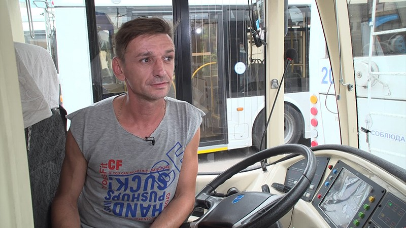 Водитель троллейбуса Валерий Скоморохов
