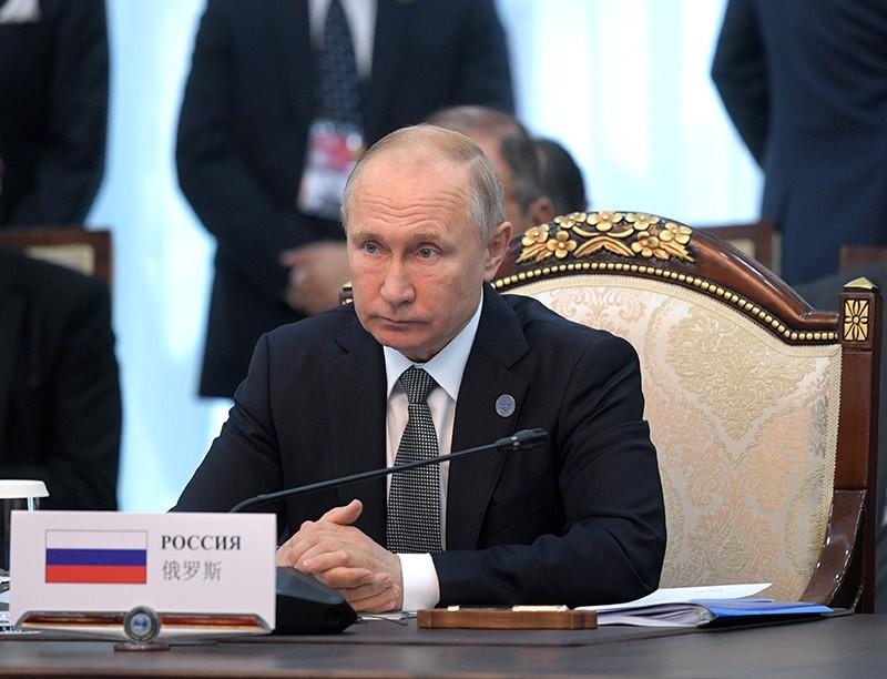 Владимир Путин на заседании стран ШОС