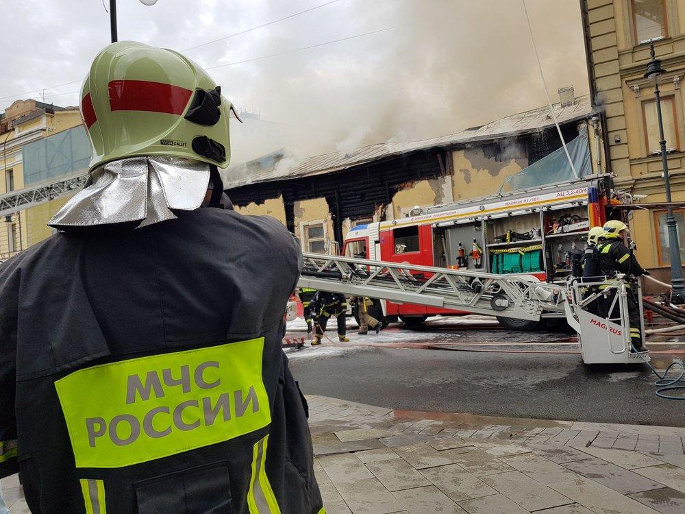 Пожар на улице Пречистенка