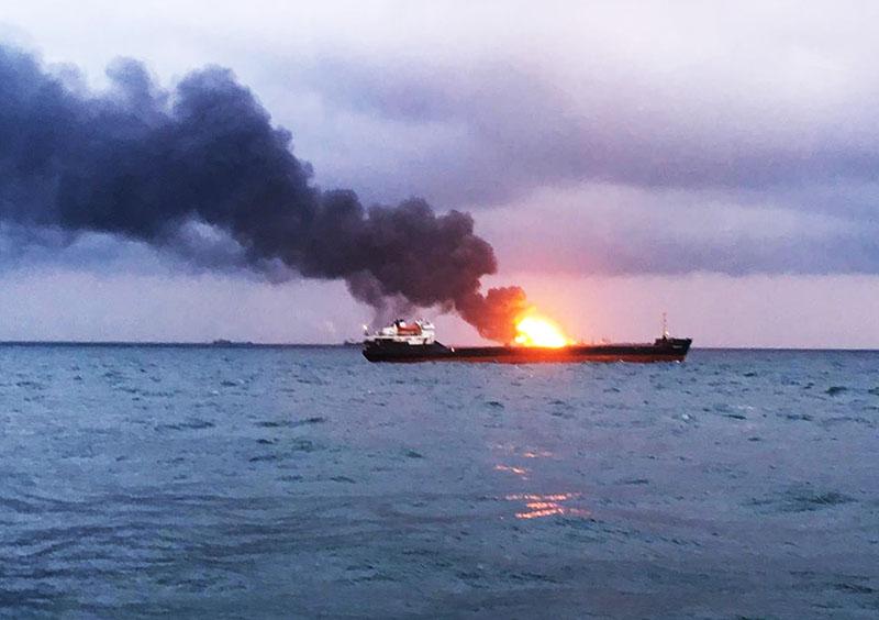 Возгорание на танкере
