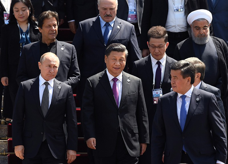 Владимир Путин на саммите стран ШОС