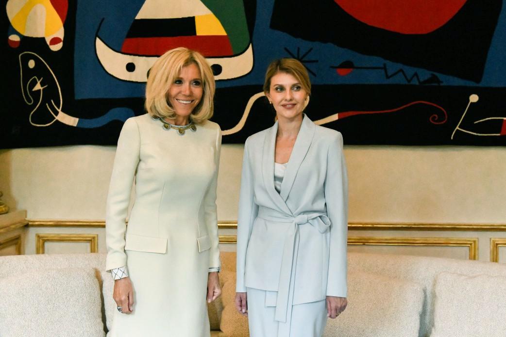 Елена Зеленская и Брижит Макрон