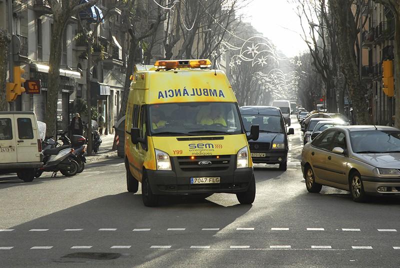 Скорая на месте происшествия в Испании