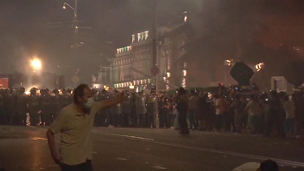 Беспорядки в Грузии