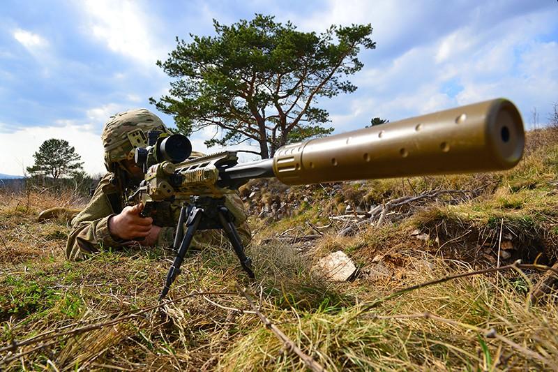 Натовские военные в ходе учений