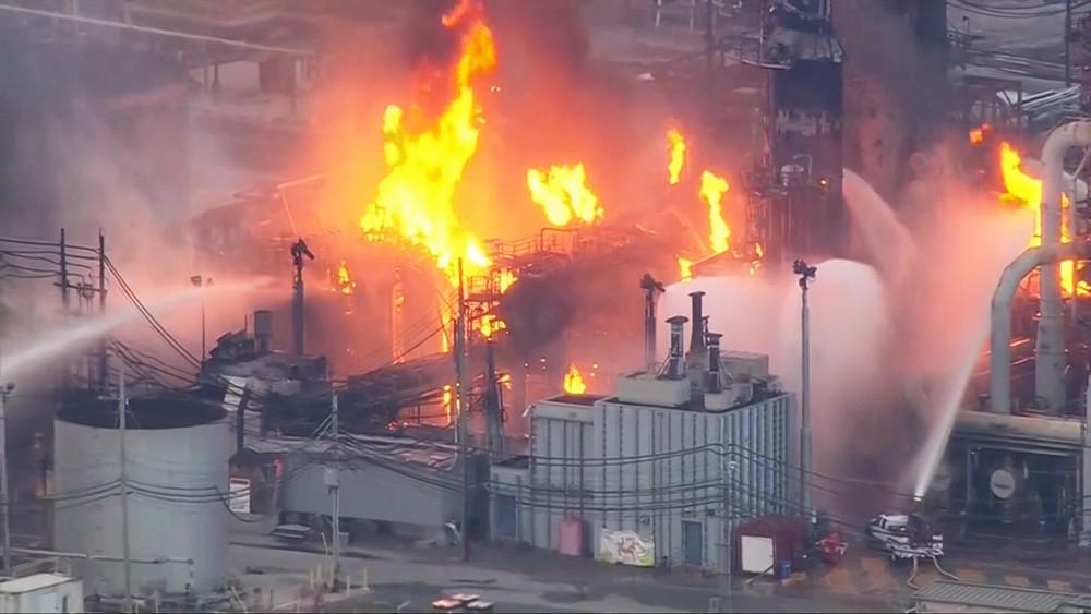 Пожар на заводе США