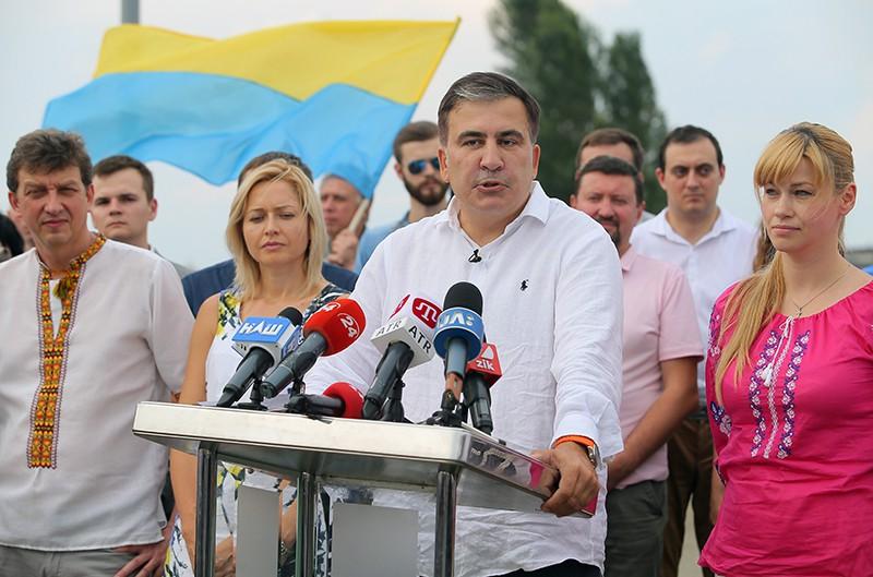 """Лидер политической партии """"Движение новых сил"""" Михаил Саакашвили"""