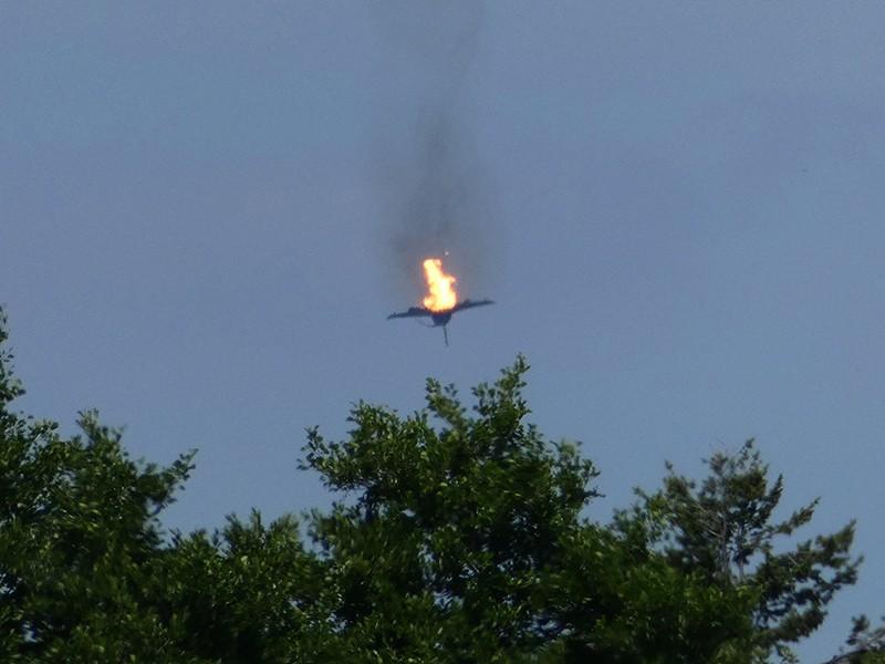 Падение истребителя Eurofighter ВВС Германии