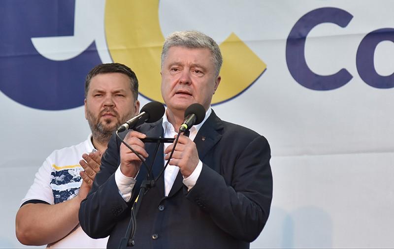 Петр Порошенко на предвыборном митинге в Стрые
