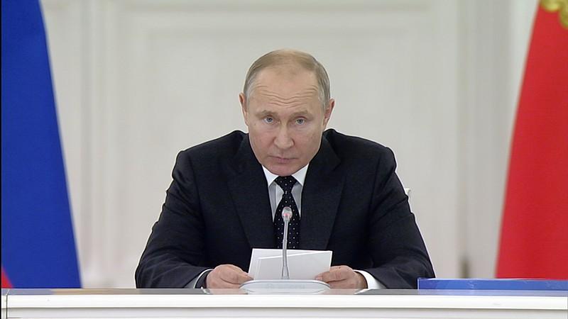 Владимир Путин на заседании Госсовета