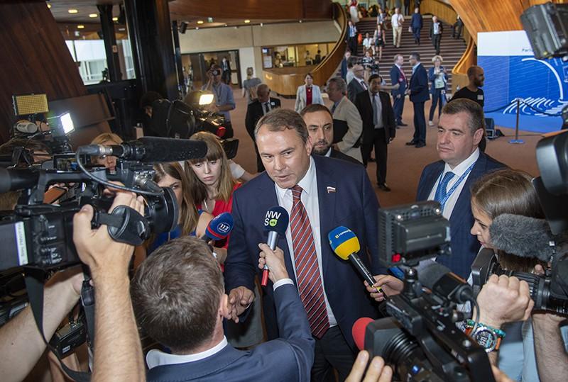 Российские делегаты прибыли на заседание ПАСЕ