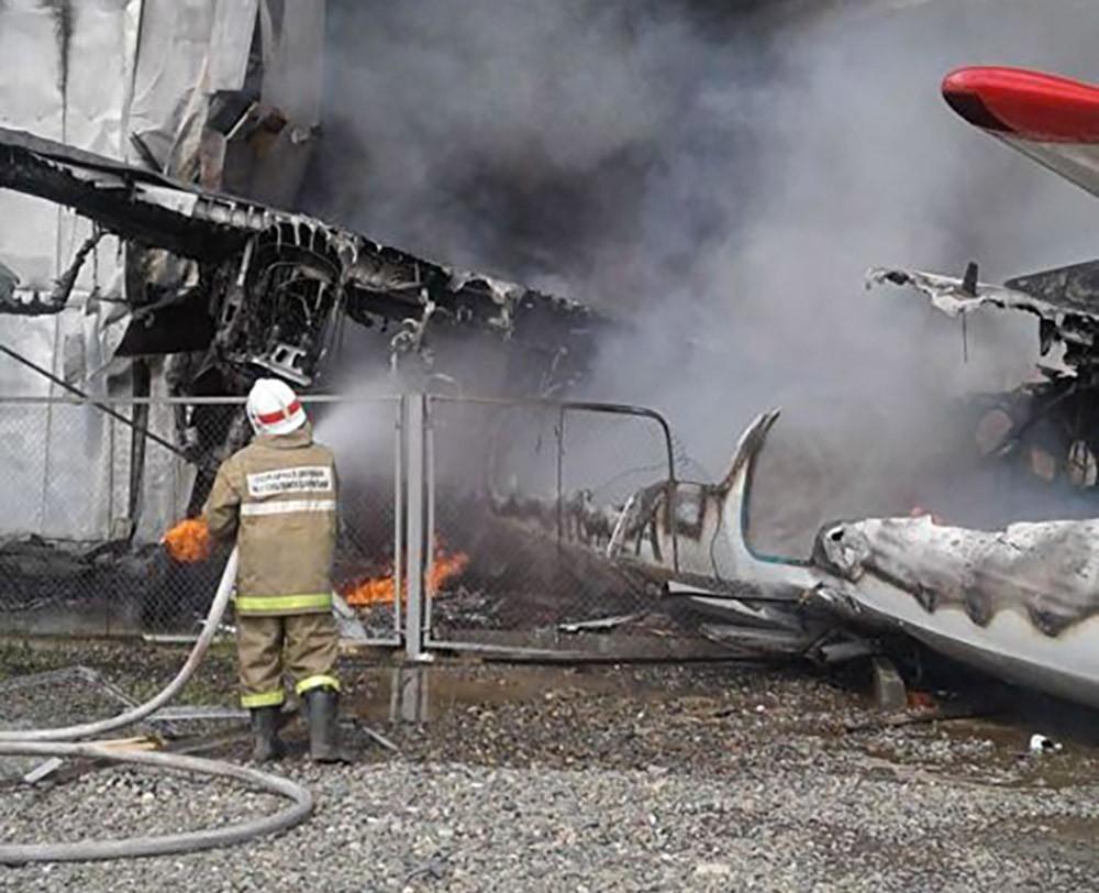 Место падения самолёта Ан-24