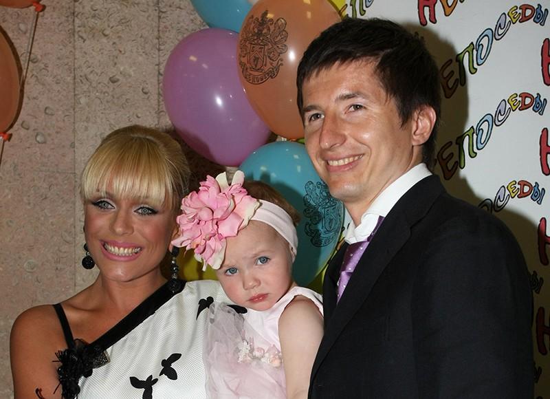 Юлия Началова ее дочка Вера и Евгений Алдонин