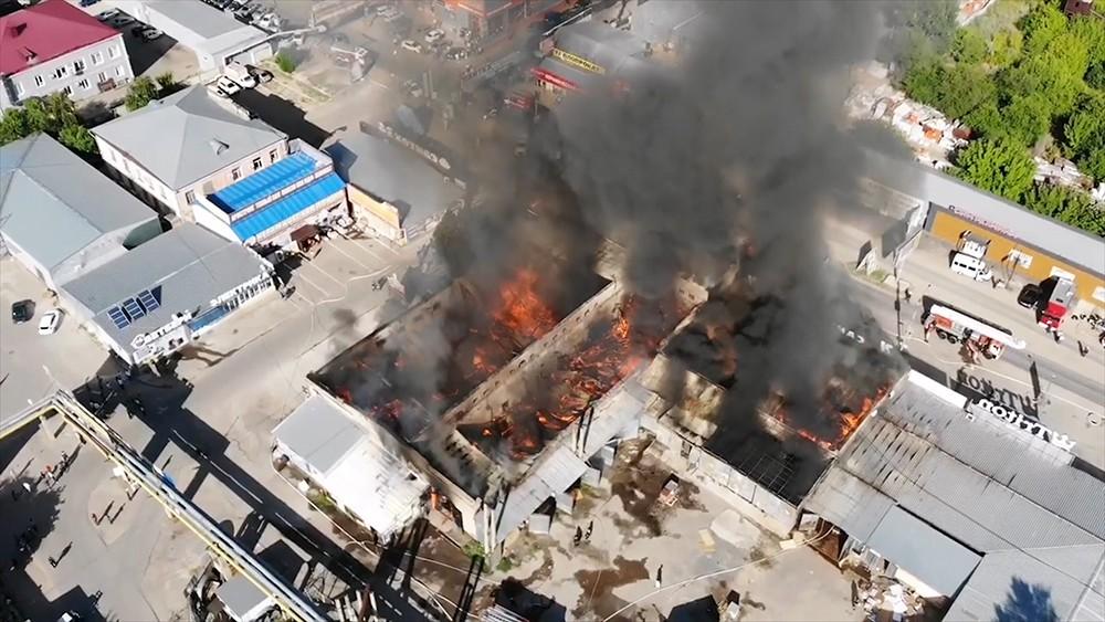 Пожар в Волгограде