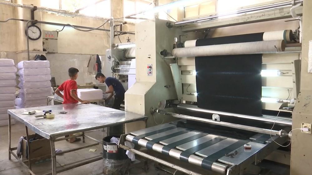 Фабрика по окрашиванию тканей в Сирии