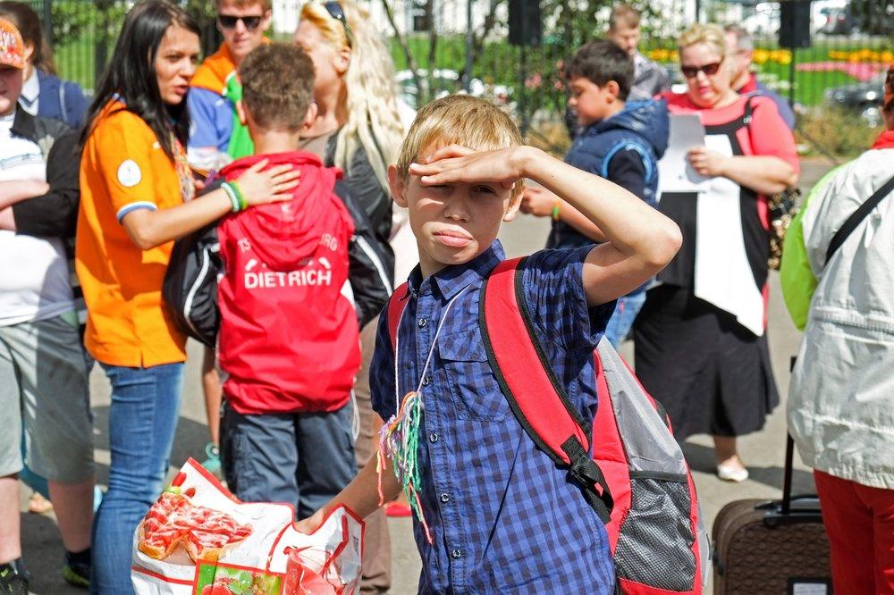 Отправка детей в летний лагерь