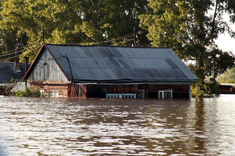 Ситуация в зоне подтопления в Красноярском крае