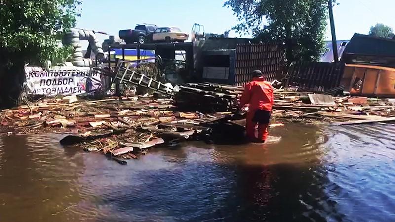 Устранение последствий подтопления в городе Тулун