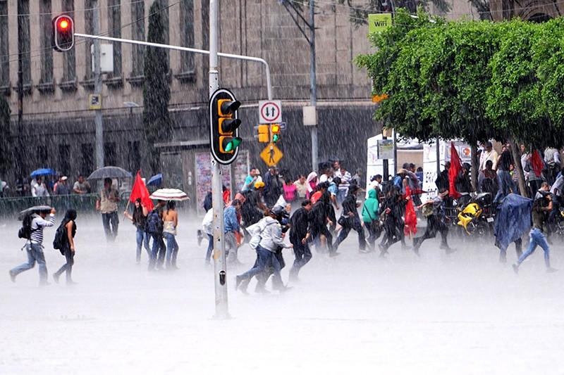 Сильный град в Мексике