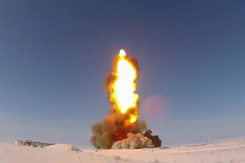 Испытательный пуск ракеты