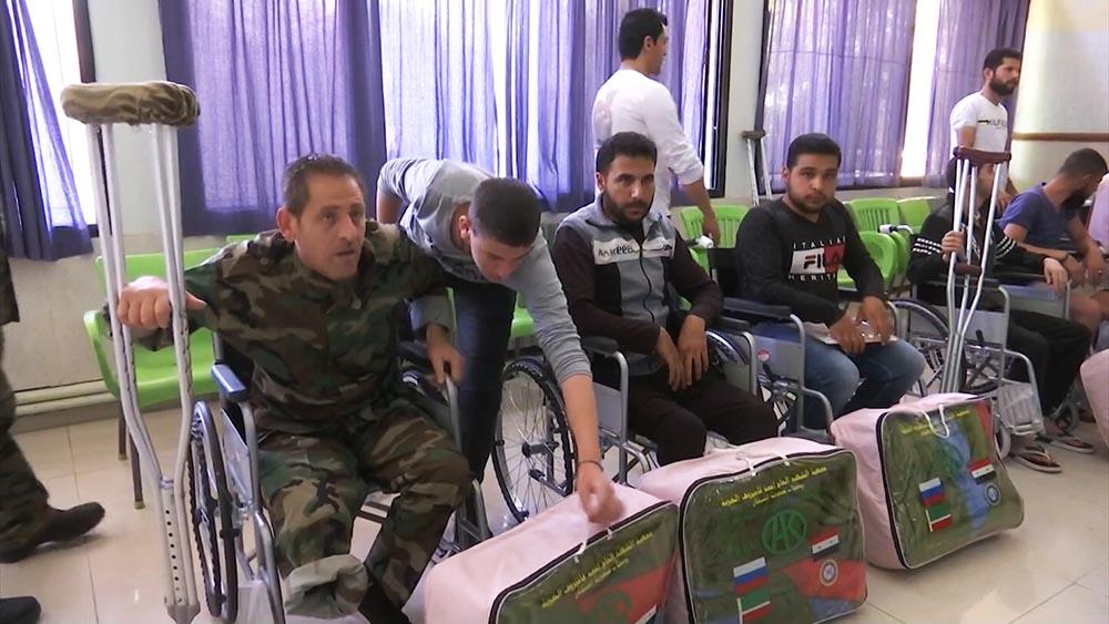 Гуманитарная помощь для раненых сирийских военных