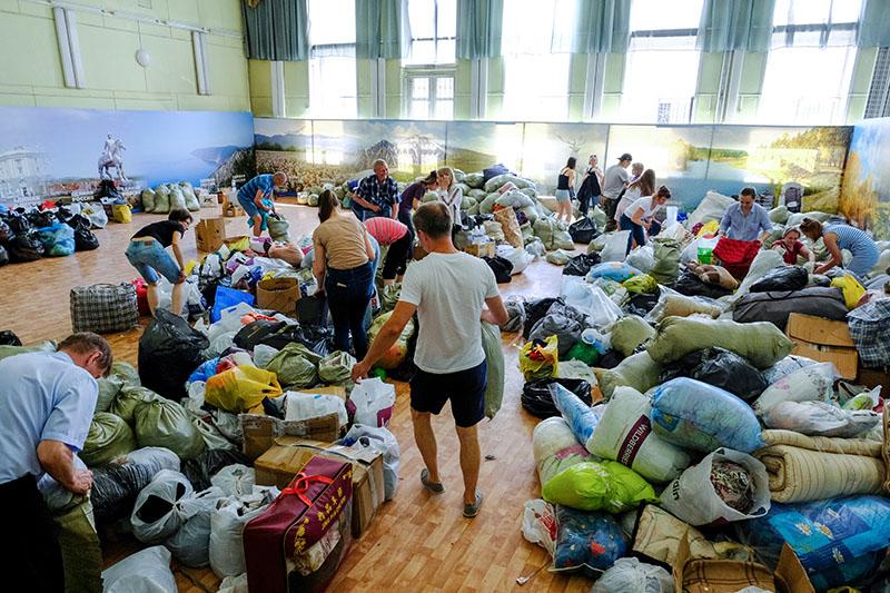 Гуманитарная помощь для пострадавших в результате паводка в Иркутской области