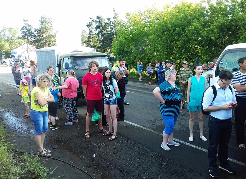 Жители города Тулуна в Иркутской области