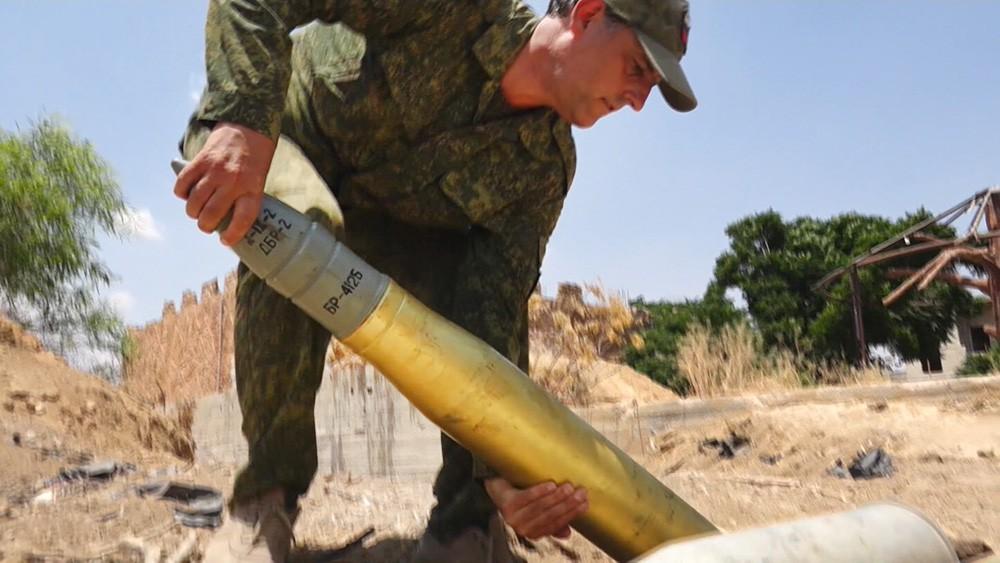 Утилизация снарядов в Сирии