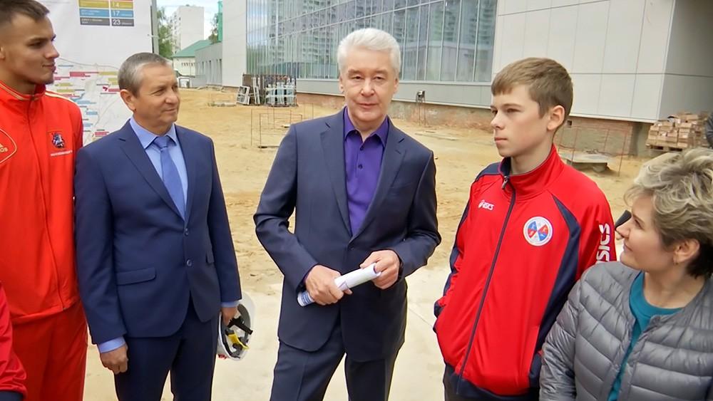Сергей Собянин осмотрел ход строительства Центра современного пятиборья