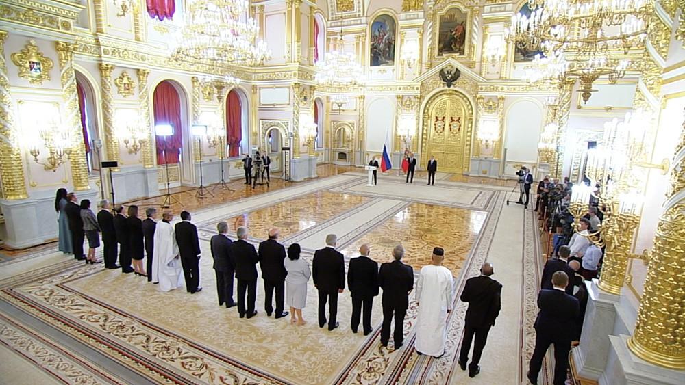 Церемония вручения верительных грамот в Кремле