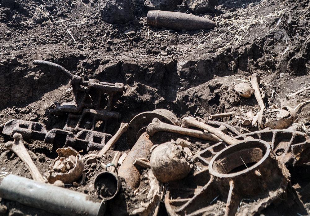 Найденные останки воинов Второй мировой войны